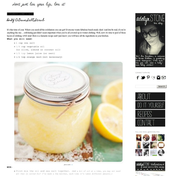 Citrus Salt Scrub | Pearltrees