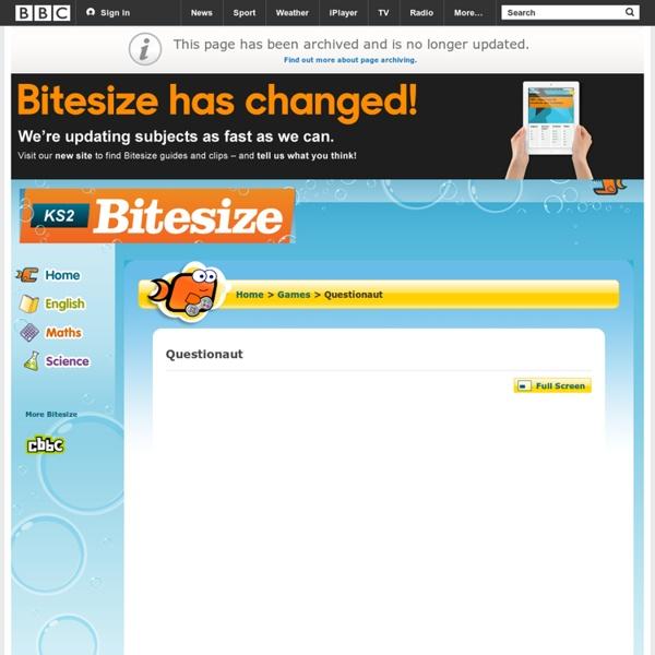 KS2 Bitesize Games - Questionaut