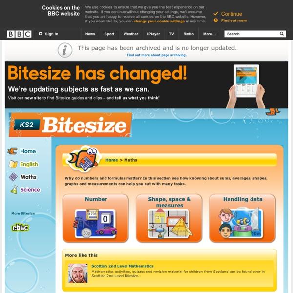 KS2 Bitesize: Maths - Home