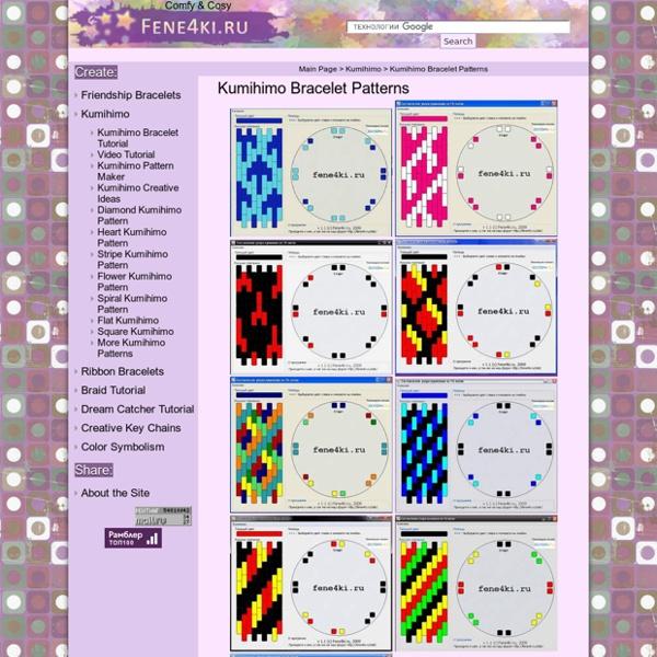 Friendship Bracelet Pattern Diamonds or Fish  Diseño de