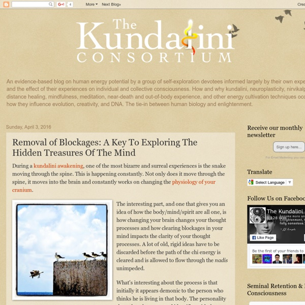 The Kundalini Consortium: Removal of Blockages: A Key To Exploring The Hidden Treasures Of The Mind