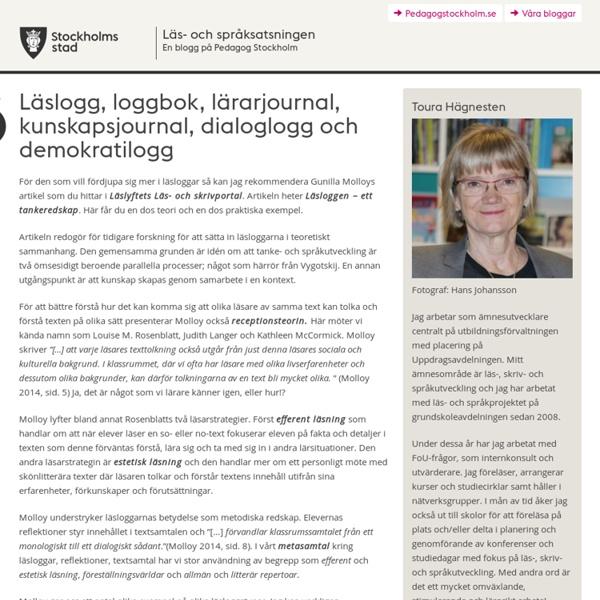 Läslogg, loggbok, lärarjournal, kunskapsjournal, dialoglogg och demokratilogg