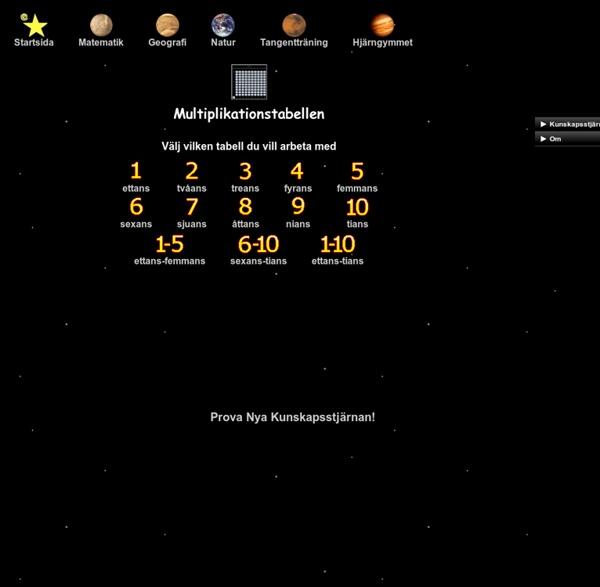 Kunskapsstjärnan - Multiplikationstabellen