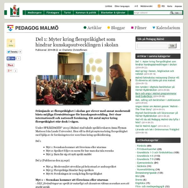 Del 1: Myter kring flerspråkighet som hindrar kunskapsutvecklingen i skolan