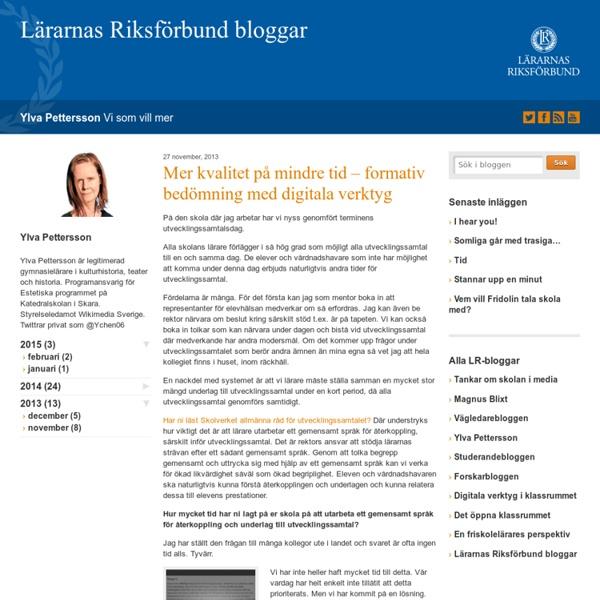 Mer kvalitet på mindre tid - formativ bedömning med digitala verktyg - Vi som...