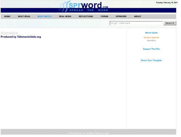 Kymatica - Sprword.com