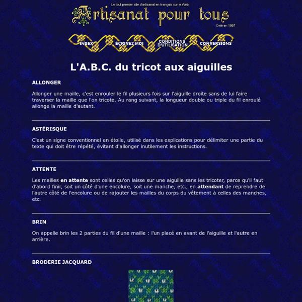 L'A.B.C. du tricot aux aiguilles - Artisanat pour tous
