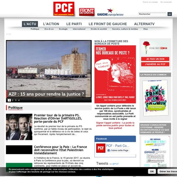 L'actualité du PCF - Front de gauche