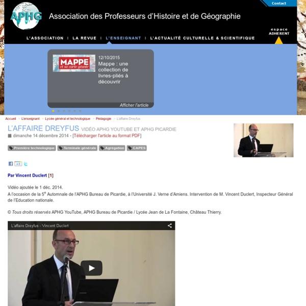 L'affaire Dreyfus-Vidéo APHG 2014