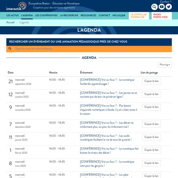 L'agenda des coopératives du numérique. Des formations en ligne