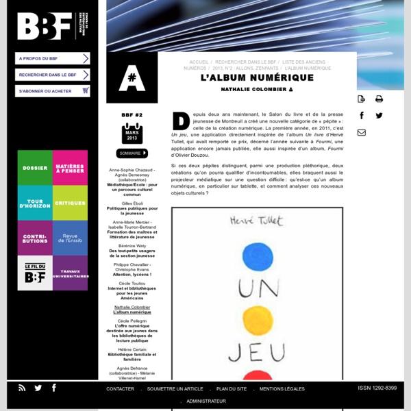 L'album numérique (article du BBF)