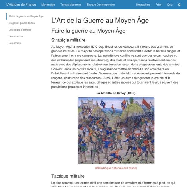 L'Art de la Guerre au Moyen Âge