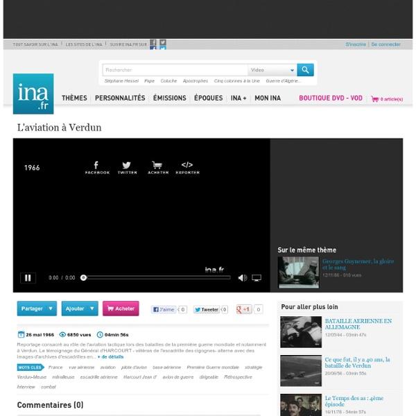 L'aviation à Verdun - Vidéo Ina