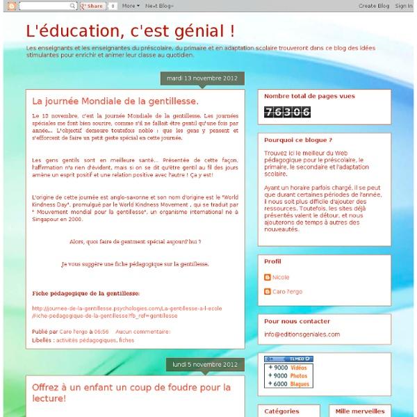 L'éducation, c'est génial !