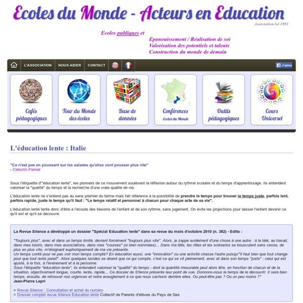 L'éducation lente : Italie