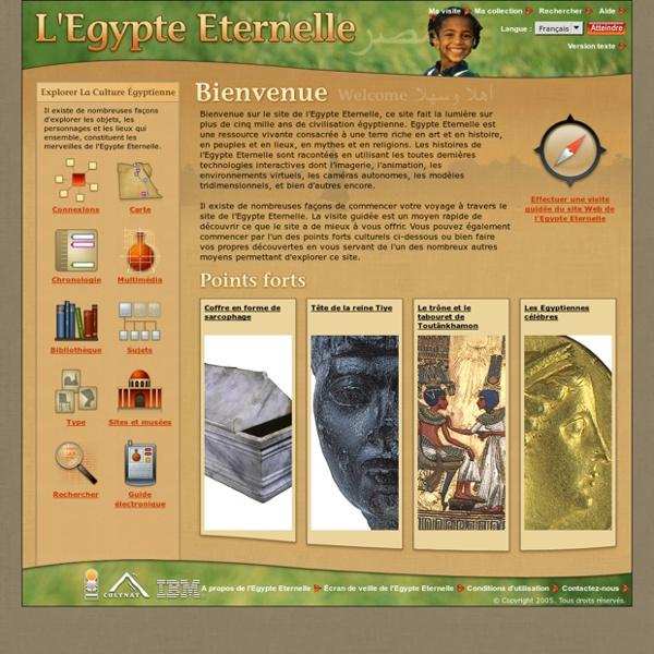 L'Egypte Eternelle - Accueil