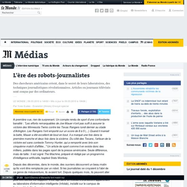 L'ère des robots-journalistes