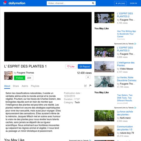 L' ESPRIT DES PLANTES 1