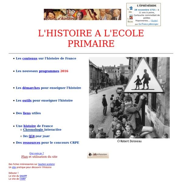 L'histoire à l'école élémentaire