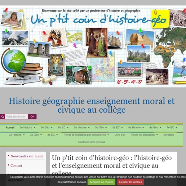 """Ressources """"l'histoire-géo au collège"""""""
