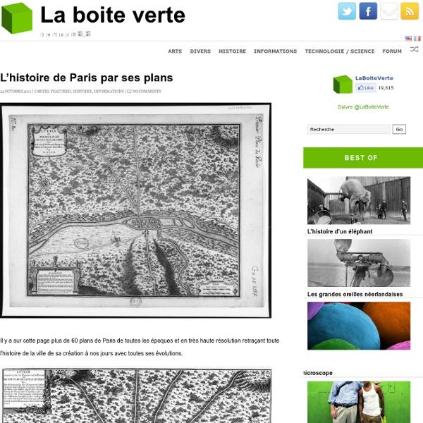 Historique des plans de Paris