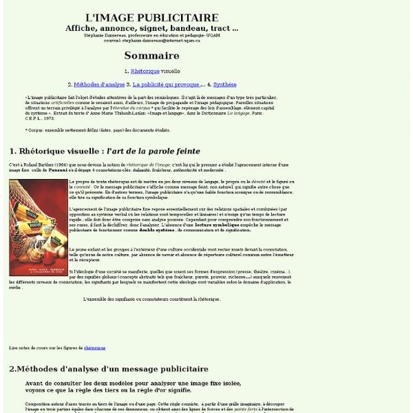 L'IMAGE PUBLICITAIRE