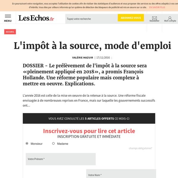 L'impôt à la source, mode d'emploi