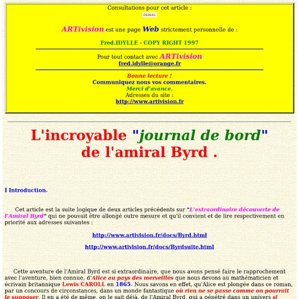 L'incroyable journal de bord de Byrd