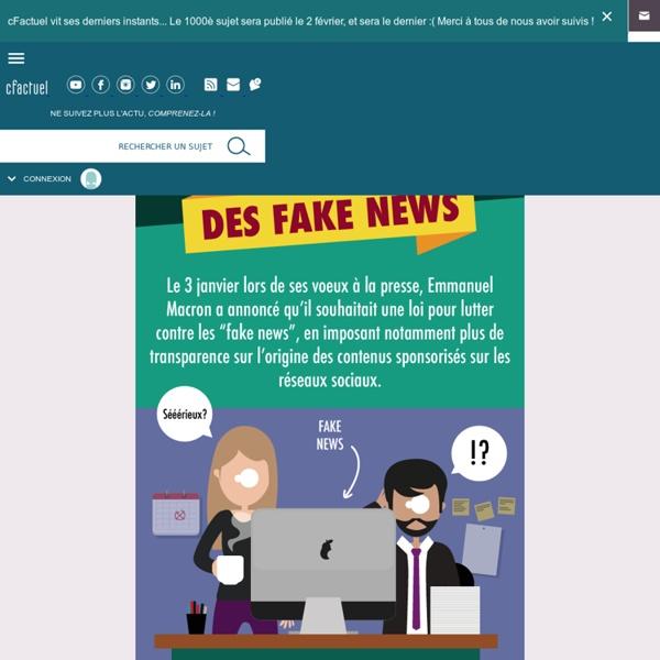 Infographie L'industrie des fake news