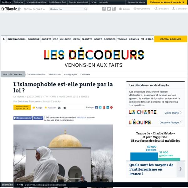 L'islamophobie est-elle punie par la loi?