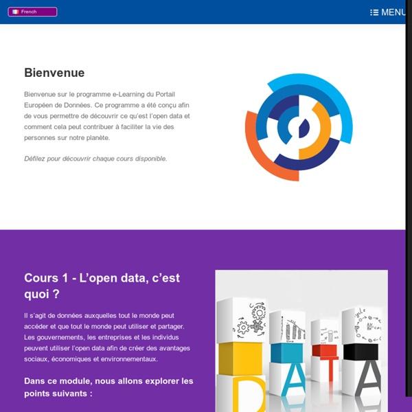 Open data, 13 cours en ligne
