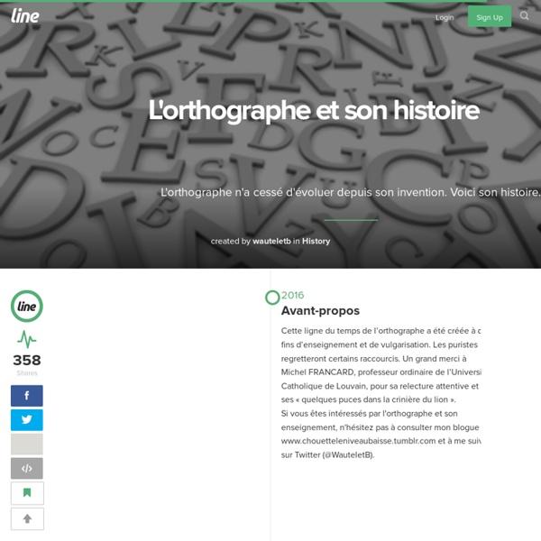 L'orthographe et son histoire