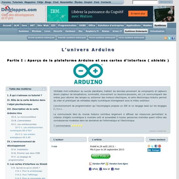 L'univers Arduino (1/2)