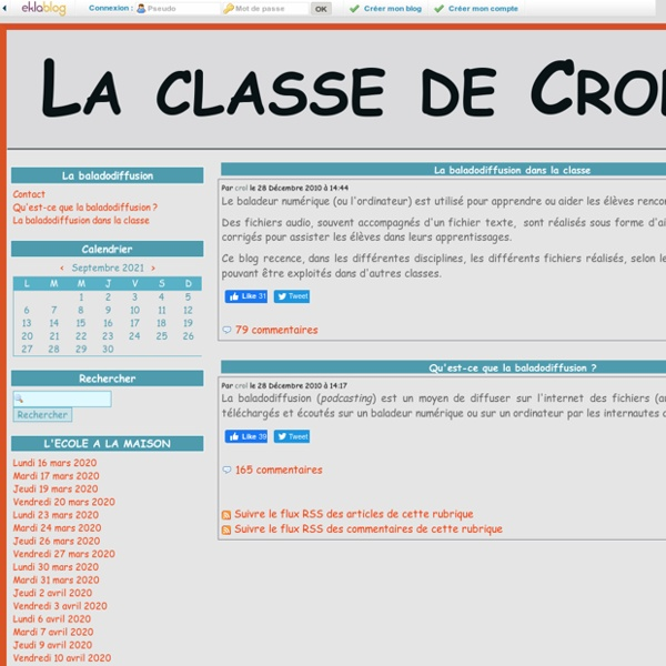 La balladodiffusion - La classe de Crol