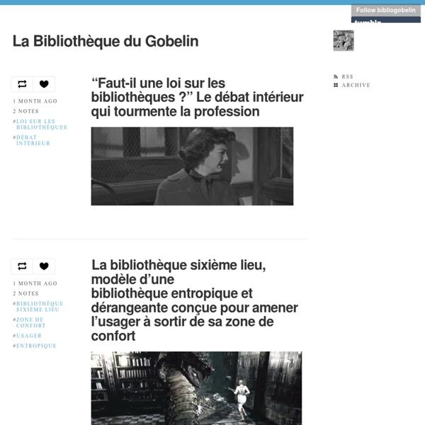 La Bibliothèque du Gobelin