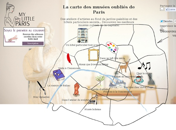 La carte des musées oubliés de Paris