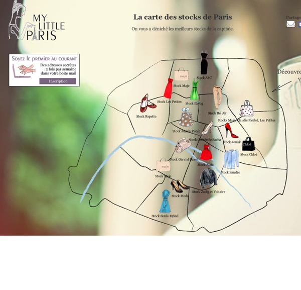La carte des stocks de Paris de My Little Paris