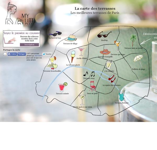 La carte des terrasses de Paris