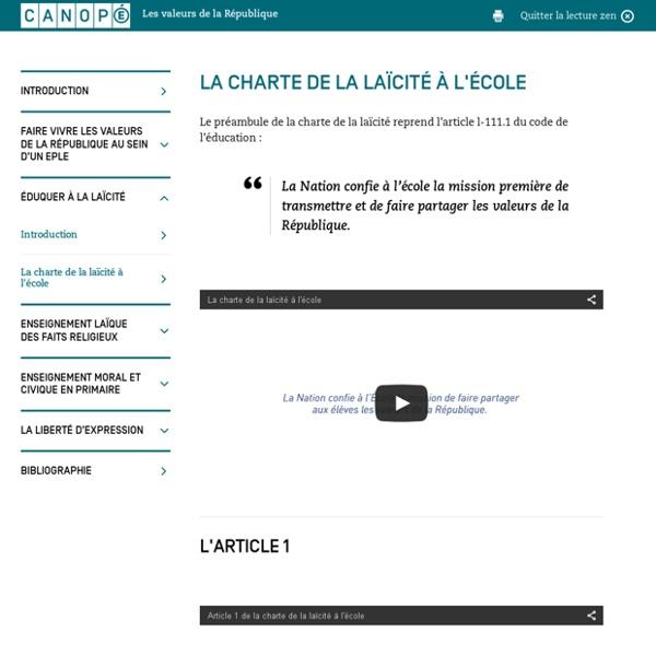 Charte de la laïcité à l'école - A. Bidar détaille en vidéo les 15 articles