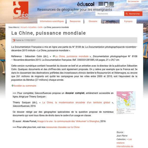 La Chine, puissance mondiale