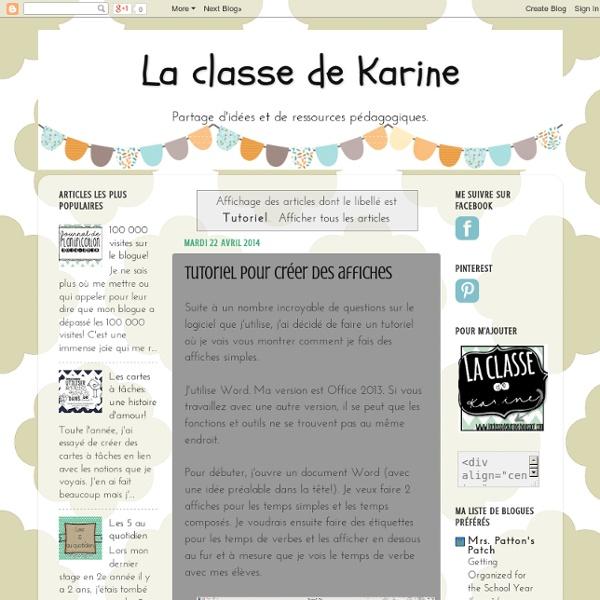 La classe de Karine: Comment faire des affiches