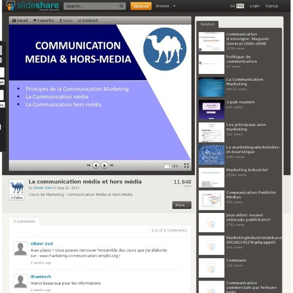 Diapo : La communication média et hors média
