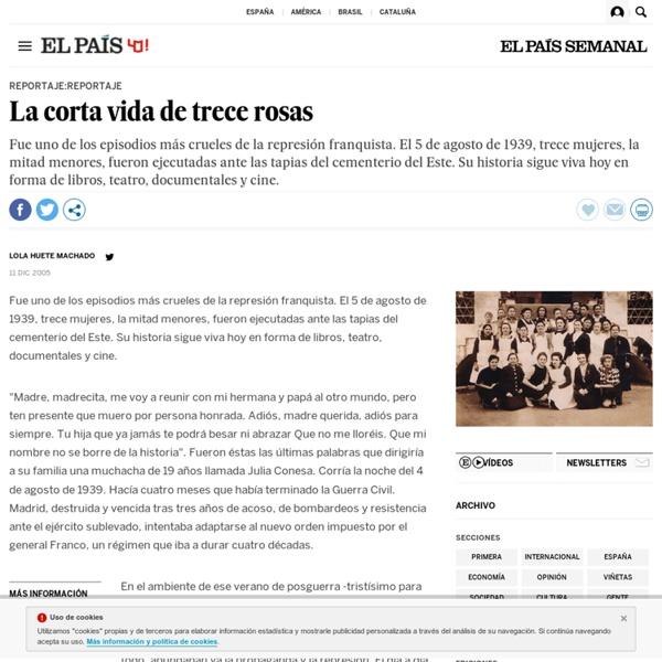 La corta vida de trece rosas