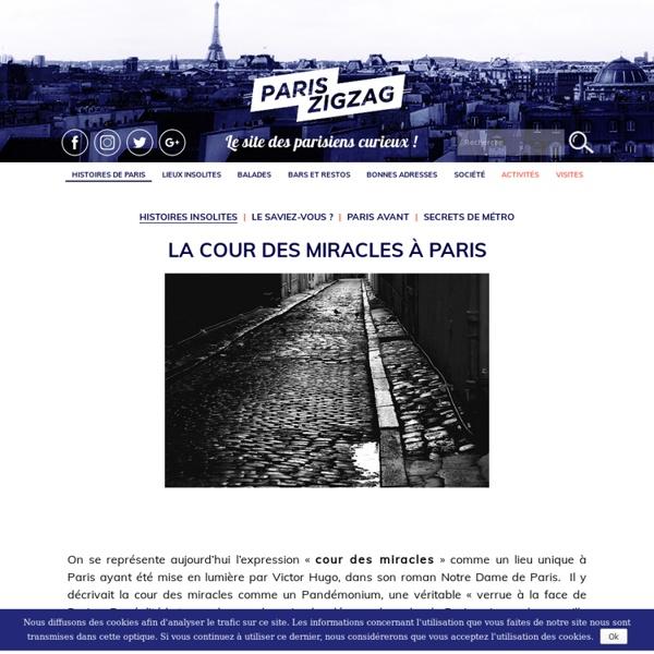 La cour des miracles à Paris