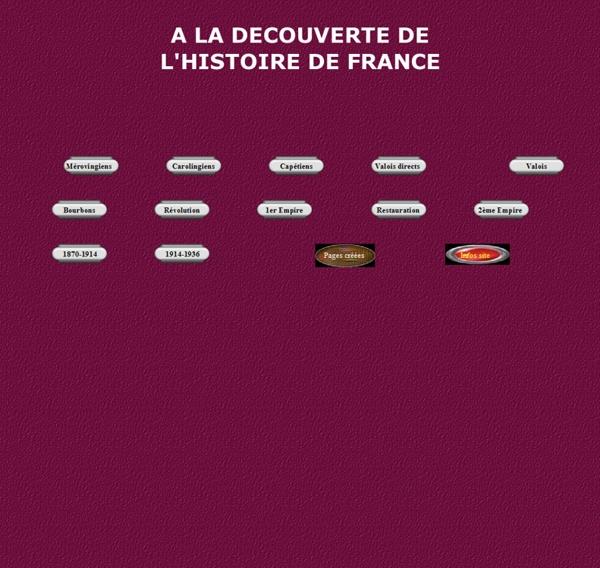 A LA DECOUVERTE DE L'HISTOIRE DE FRANCE