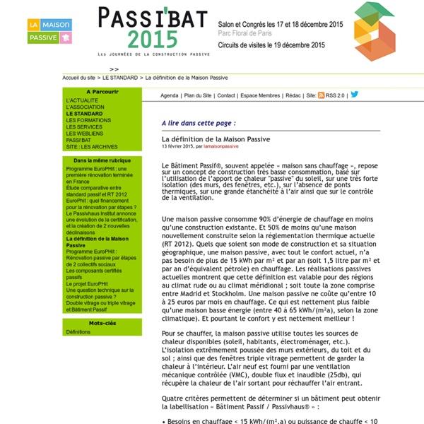 La définition de la maison passive - lamaisonpassive.fr