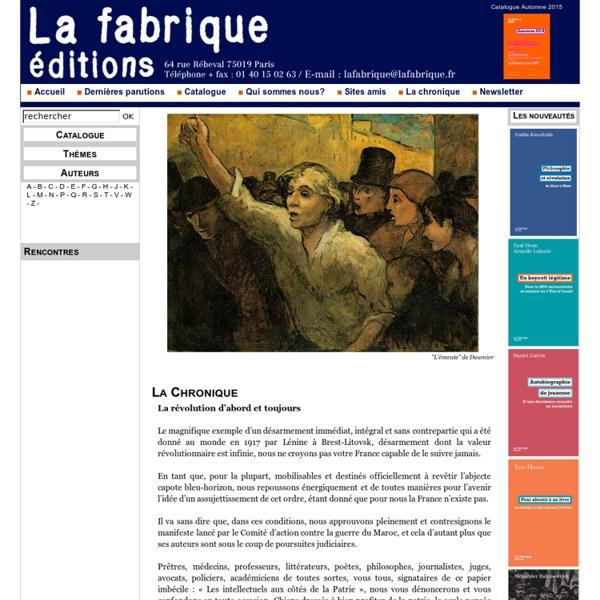 Éditions La Fabrique