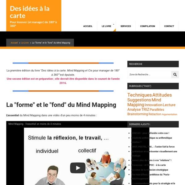 """Vidéo : la """"forme"""" et le """"fond"""" du Mind Mapping"""