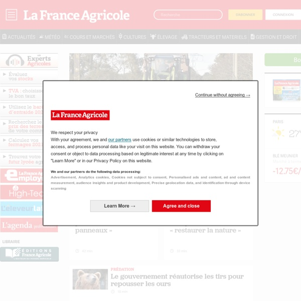 La France Agricole, toute l agriculture et l information agricole