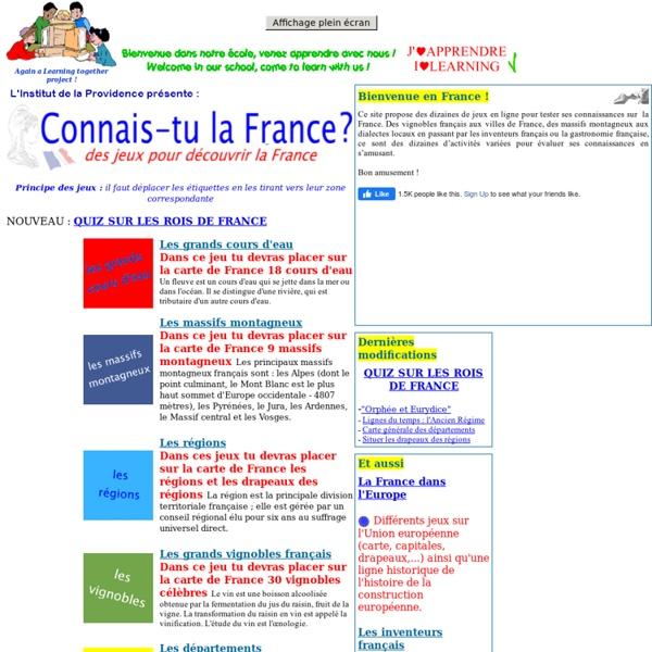 La France ! Connais-tu la France ?